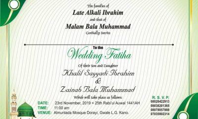 Khalil weds Zainab