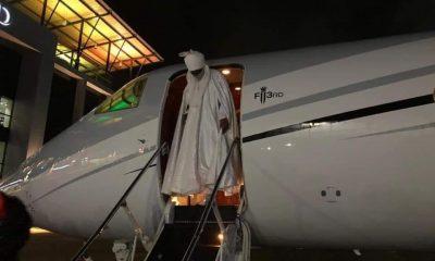 Sanusi arrives Lagos