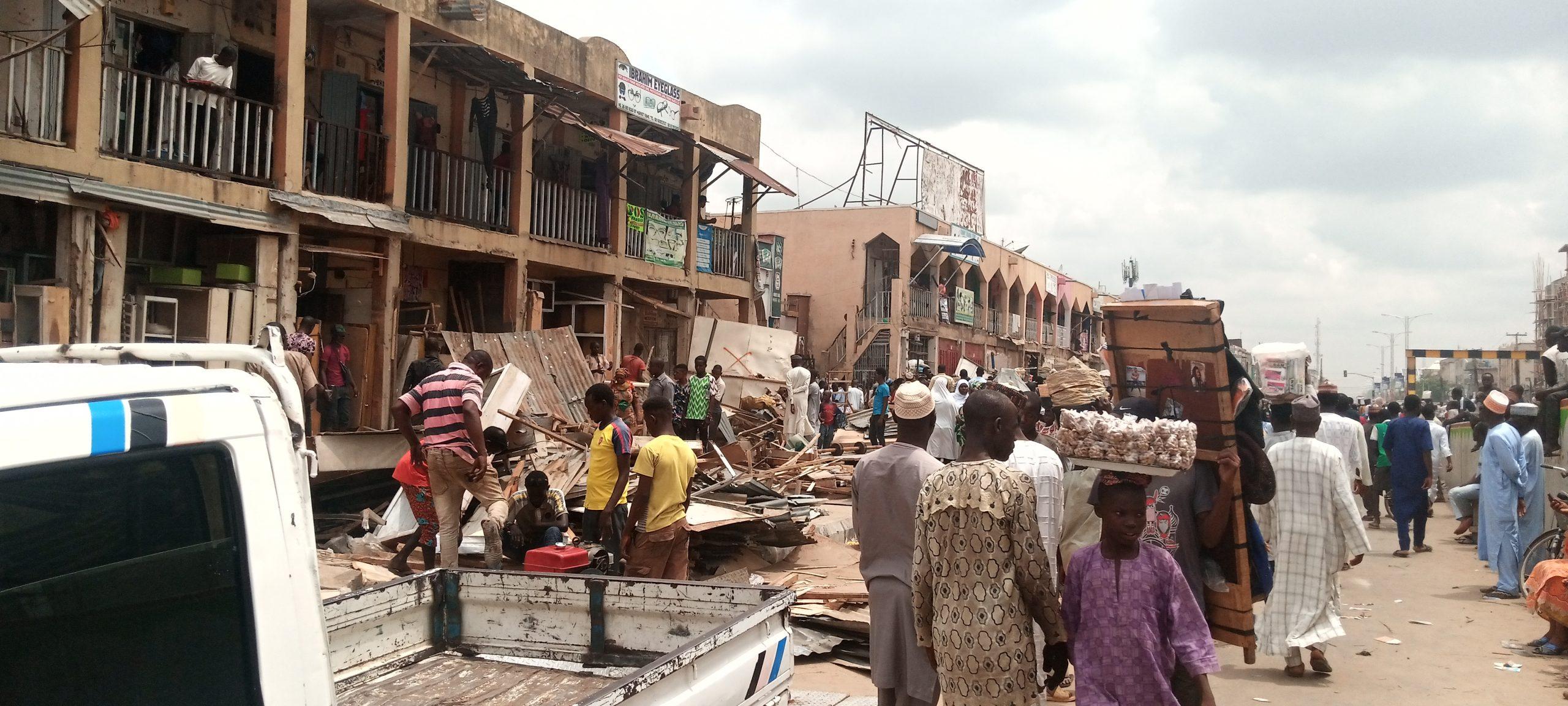 Demolition at Abubakar Rimi Market