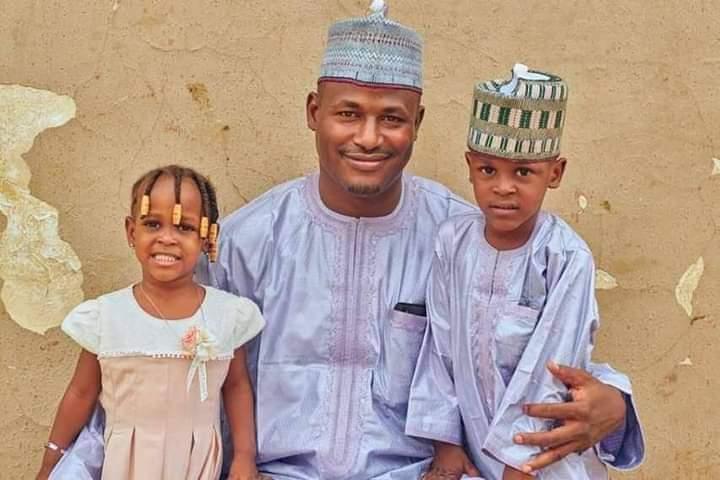 Ibrahim Aminu and kids